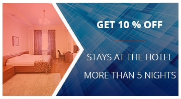 Get 10% off stays at the hotel more than 5 nights