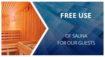 Free use of sauna for our guests