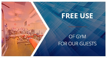 Free use of gym for our guests